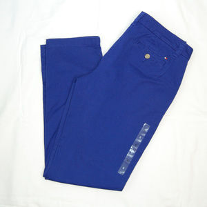 {Tommy Hilfiger} Royal Blue Straight Leg Khaki Sz6